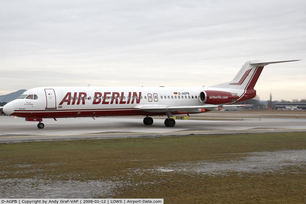 D-AGPB, 1989 Fokker 100 (F-28-0100) C/N 11278, Air Berlin F100