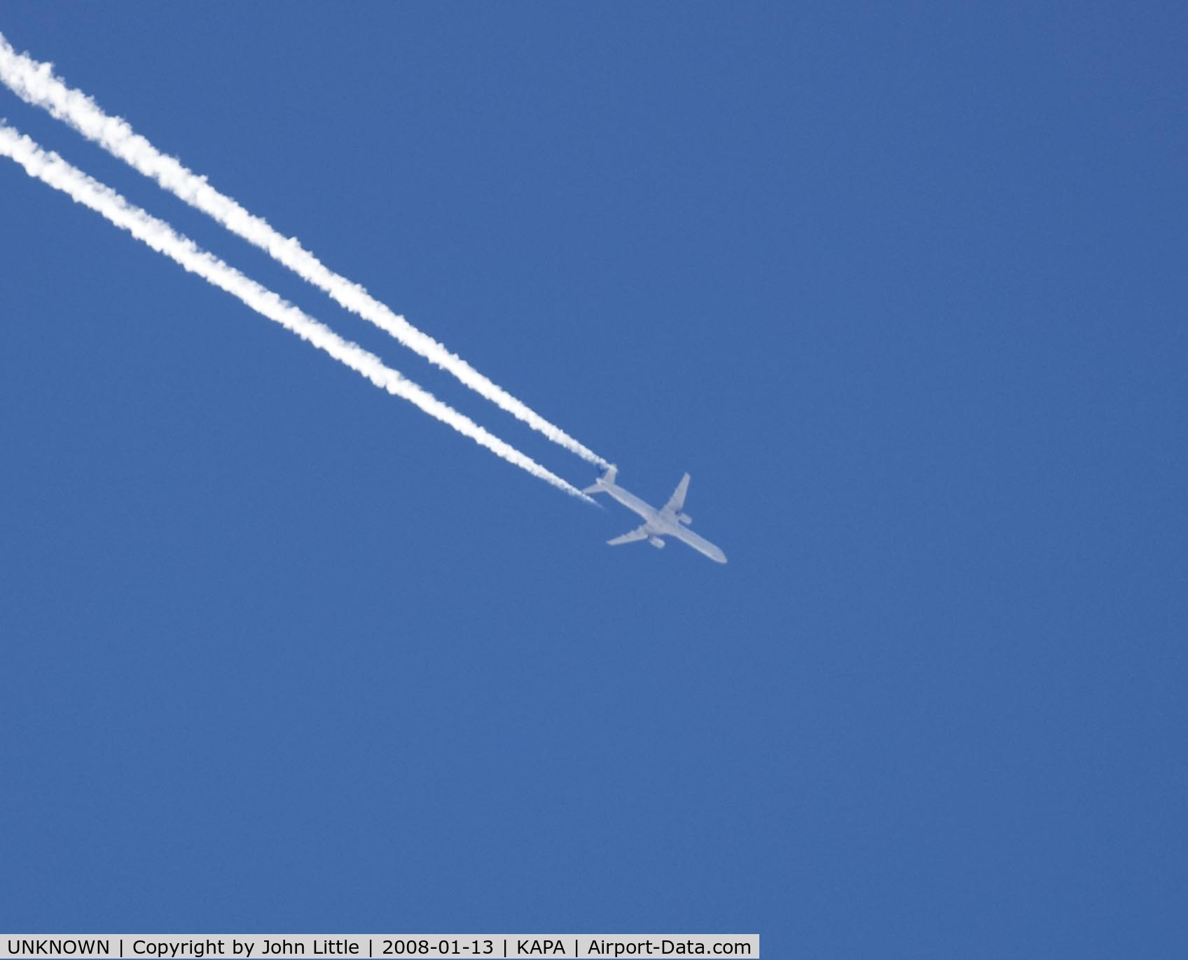 UNKNOWN, , Lufthansa 757 overflight of Centennial