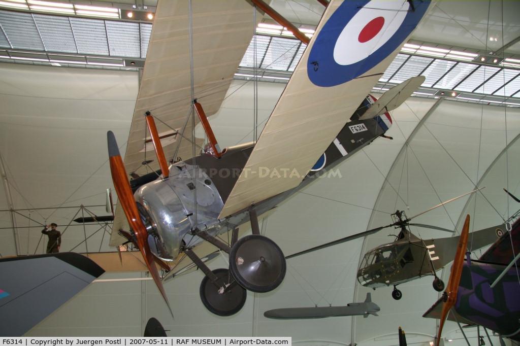F6314, Sopwith F.1 Camel C/N Not found F6314, Sopwith Camel/RAF Museum Hendon