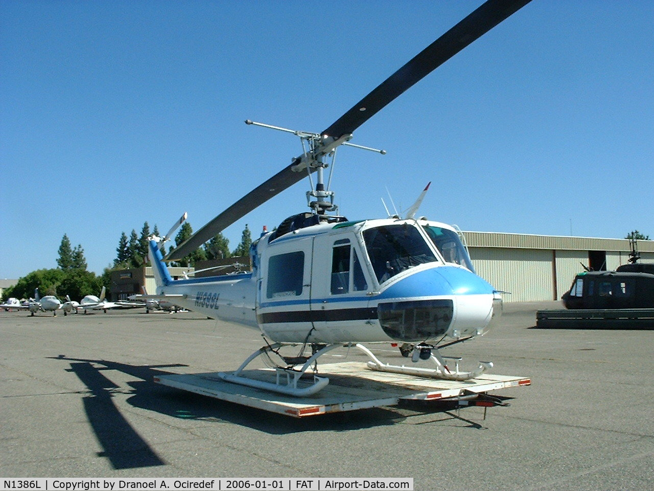 N1386L, 1963 Bell UH-1B C/N 62-4592, Bell 204 (UH-1B Super B) Owned by Federico Helicopters Inc, Fresno, CA