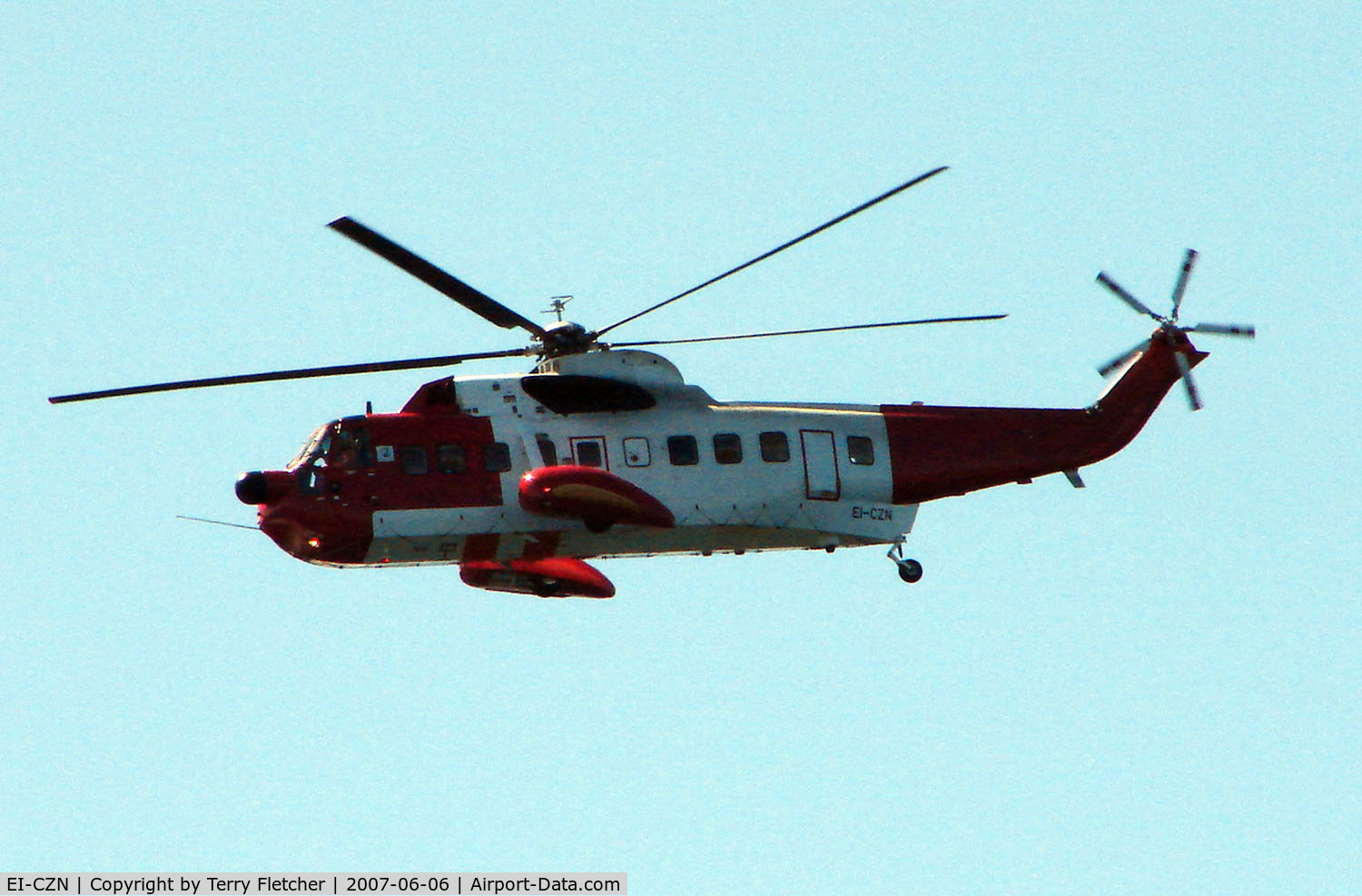 EI-CZN, 1974 Sikorsky S-61N C/N 61740, Sikorsky S61N patrolling the Scottish coastline