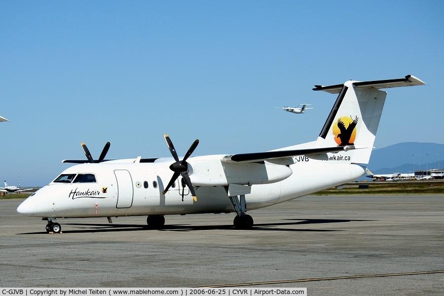 C-GJVB, 1986 De Havilland Canada DHC-8-102 Dash 8 C/N 046, Hawkair aircraft