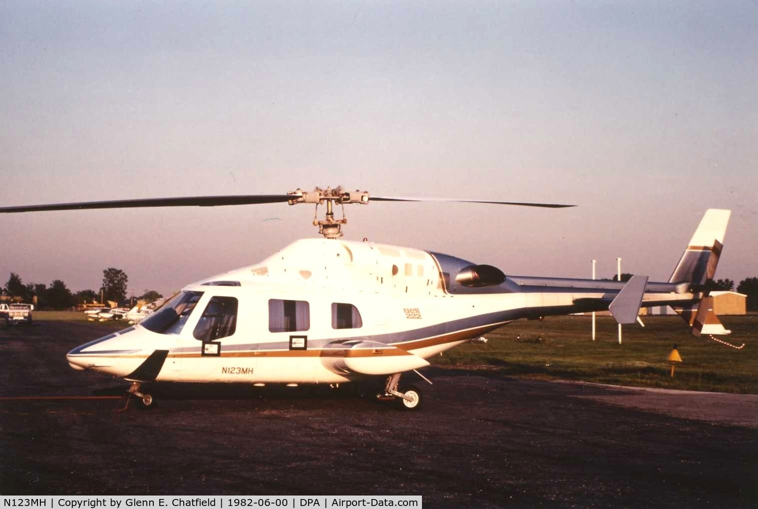 N123MH, 1980 Bell 222 C/N 47042, Photo taken for aircraft recognition training.