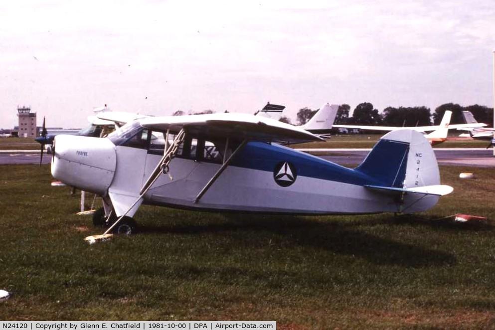 N24120, 1940 Mcclish Funk B85C C/N 46, My friend's Funk B.  He was in the CAP
