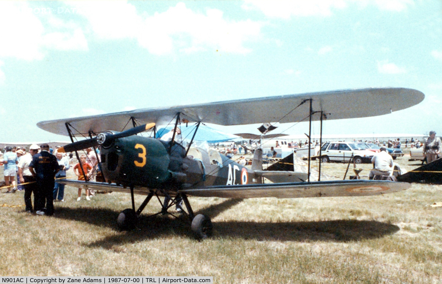N901AC, 1948 Stampe-Vertongen SV-4C C/N 1060, Stamp SV-4C at Terrell Airshow