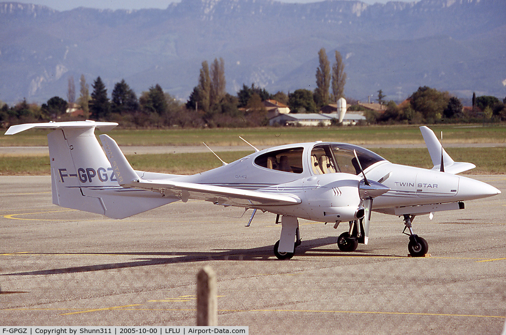 F-GPGZ, Diamond DA-42 Twin Star C/N 42.048, Parked at the General Aviation area...