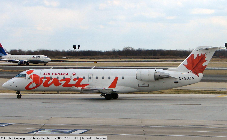 C-GJZN, 2001 Bombardier CRJ-200ER (CL-600-2B19) C/N 7520, Canada Jazz CRJ at Philadelphia