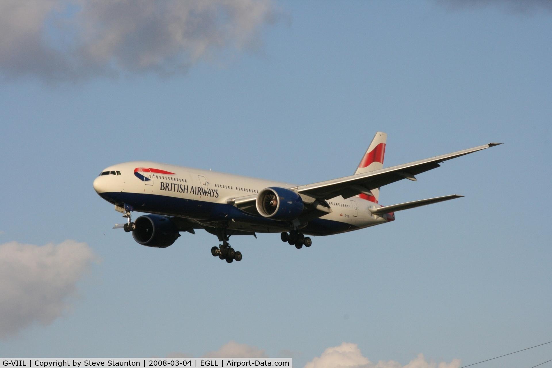 G-VIIL, 1998 Boeing 777-236/ER C/N 27493, Taken at Heathrow Airport March 2008