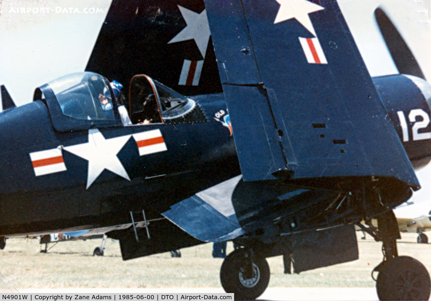 N4901W, 1951 Chance Vought F4U-5 C/N 124560, Corsair at CAF Denton Airshow