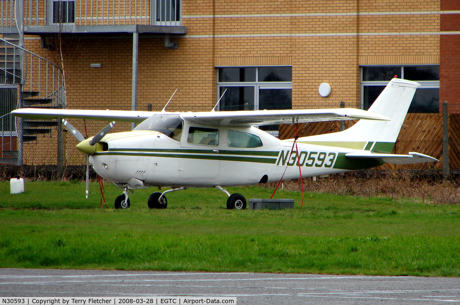 N30593, 1973 Cessna 210L Centurion C/N 21059938, Part of the General Aviation activity at Cranfield