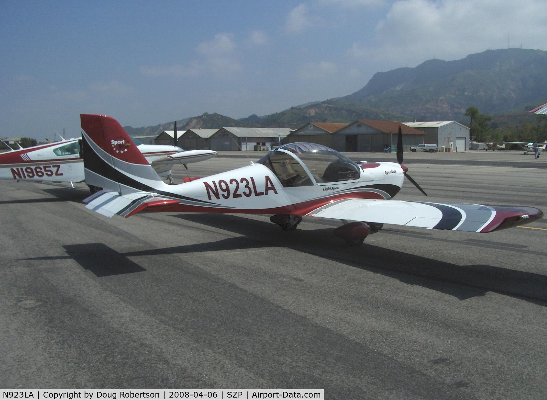 N923LA, 2007 Evektor-Aerotechnik SPORTSTAR PLUS C/N 20070923, 2007 Evektor-Aerotechnik SPORTSTAR PLUS, Rotax 912ULS 100 Hp