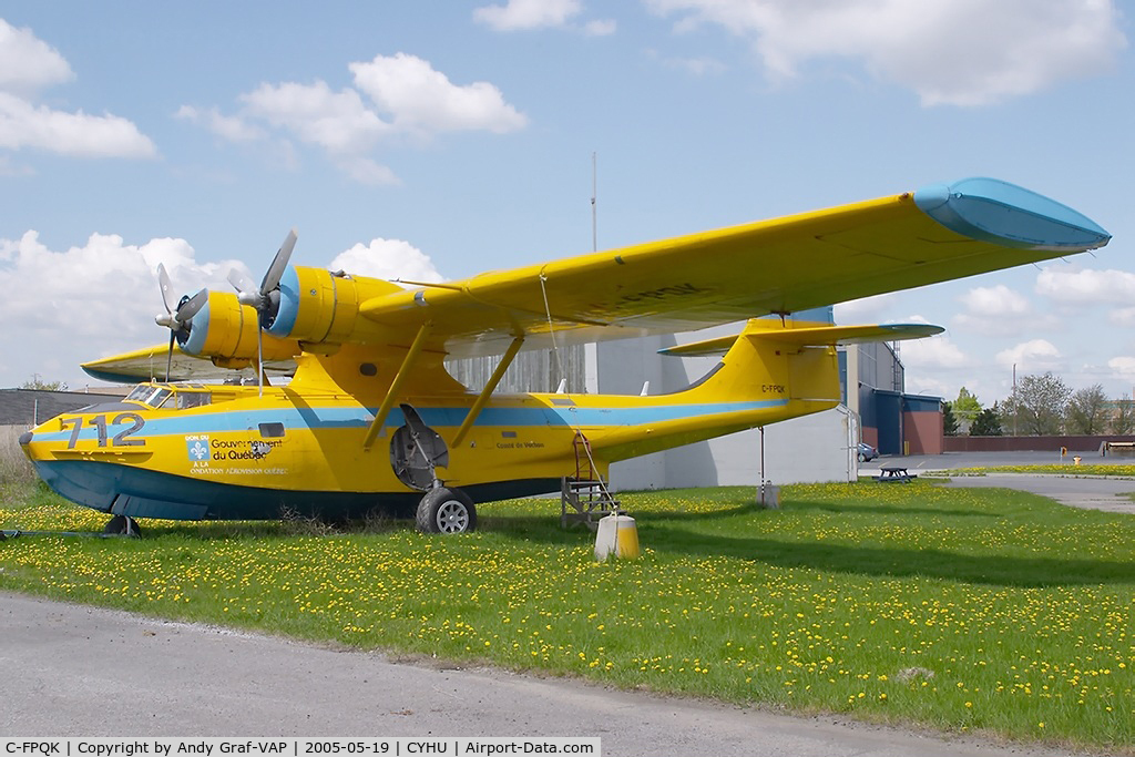 C-FPQK, 1942 Consolidated (Canadian Vickers) PBY-5A Canso A (28) C/N CV-264, Goverment du Quebec PBY-5