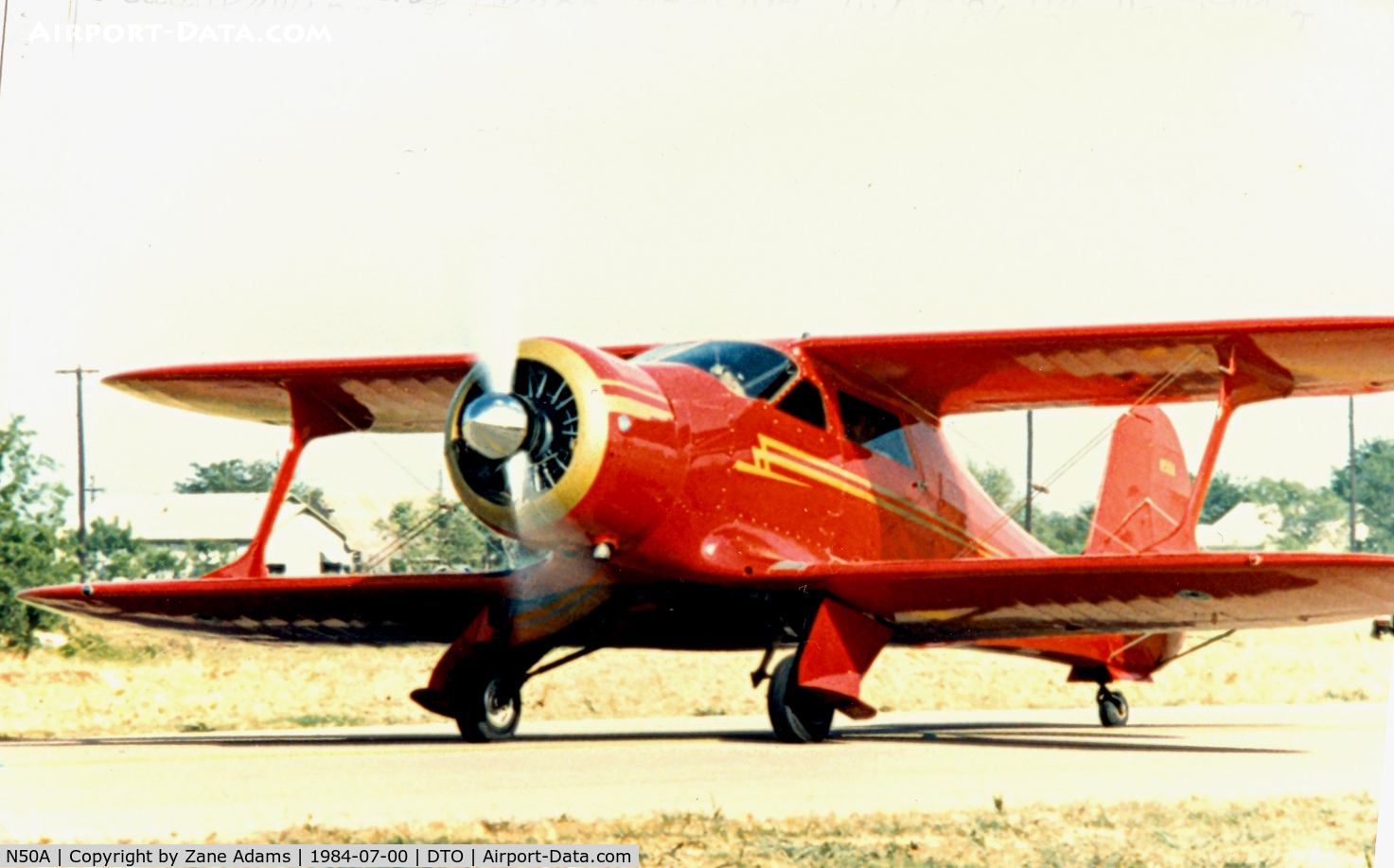 N50A, 1939 Beech D17S Staggerwing C/N 271, Beech Staggerwing at Denton Municipal