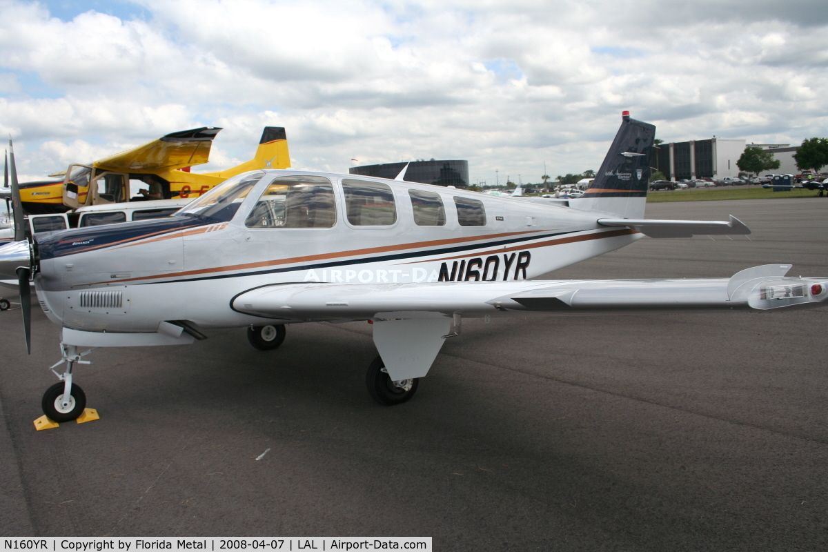 N160YR, 2008 Hawker Beechcraft Corp G36 Bonanza C/N E-3828, Beech G36