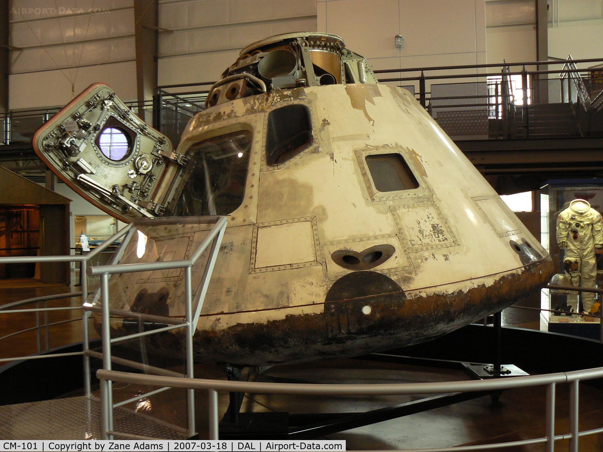 CM-101, 1968 North American Apollo Command Module C/N CSM-101, Apollo 7 Command Module at Frontiers of Flight Museum, Dallas, TX