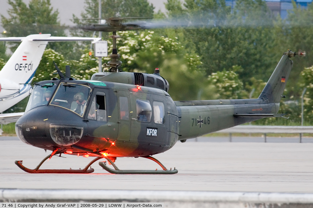 71 46, Bell (Dornier) UH-1D Iroquois (205) C/N 8206, German Air Force Bell UH-1