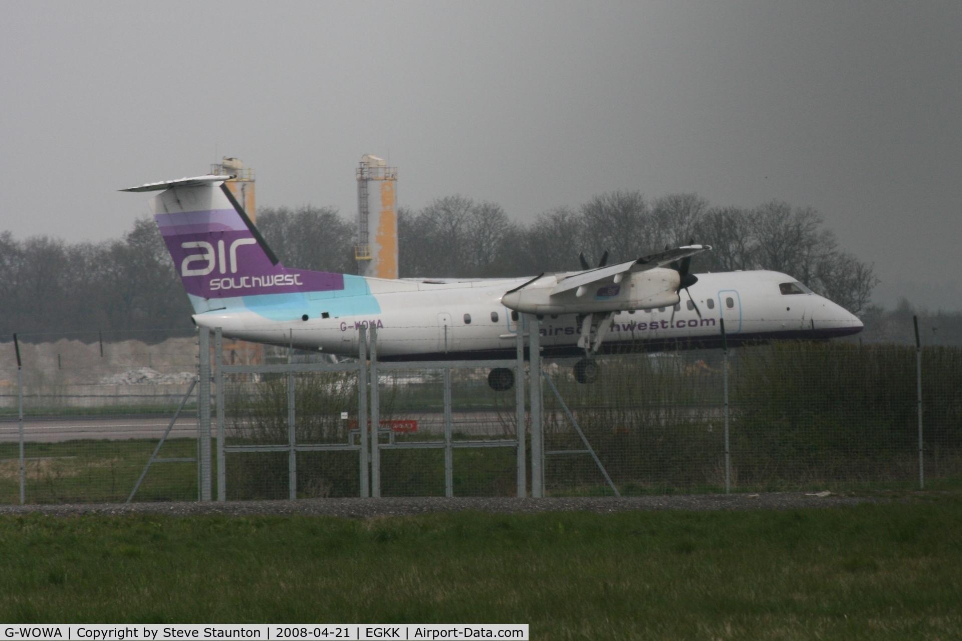 G-WOWA, 1992 De Havilland Canada DHC-8-311 Dash 8 C/N 296, Gatwick Airport 21/04/08 (married 19/04/08 - spotting two days later)