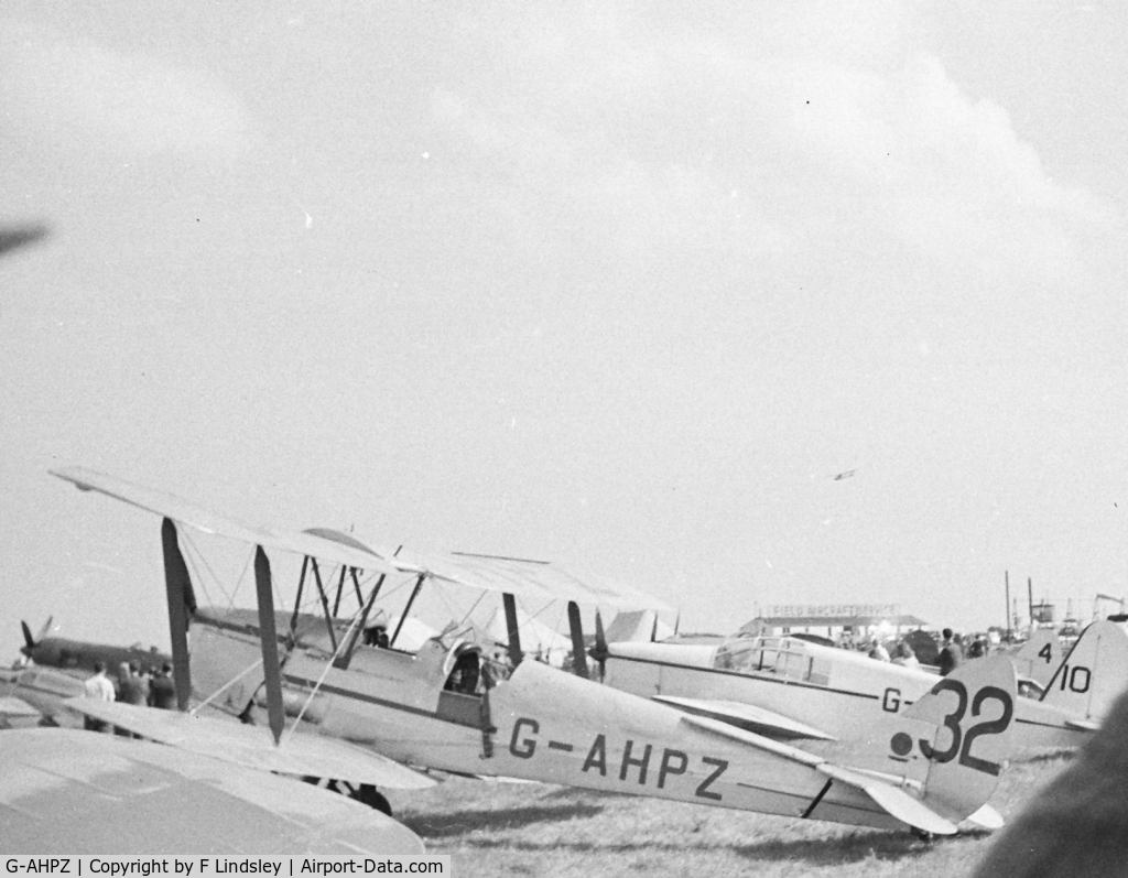 G-AHPZ, 1939 De Havilland DH-82A Tiger Moth II C/N 83794, Tiger Moth at Airshow maybe Lympne about 1946-48