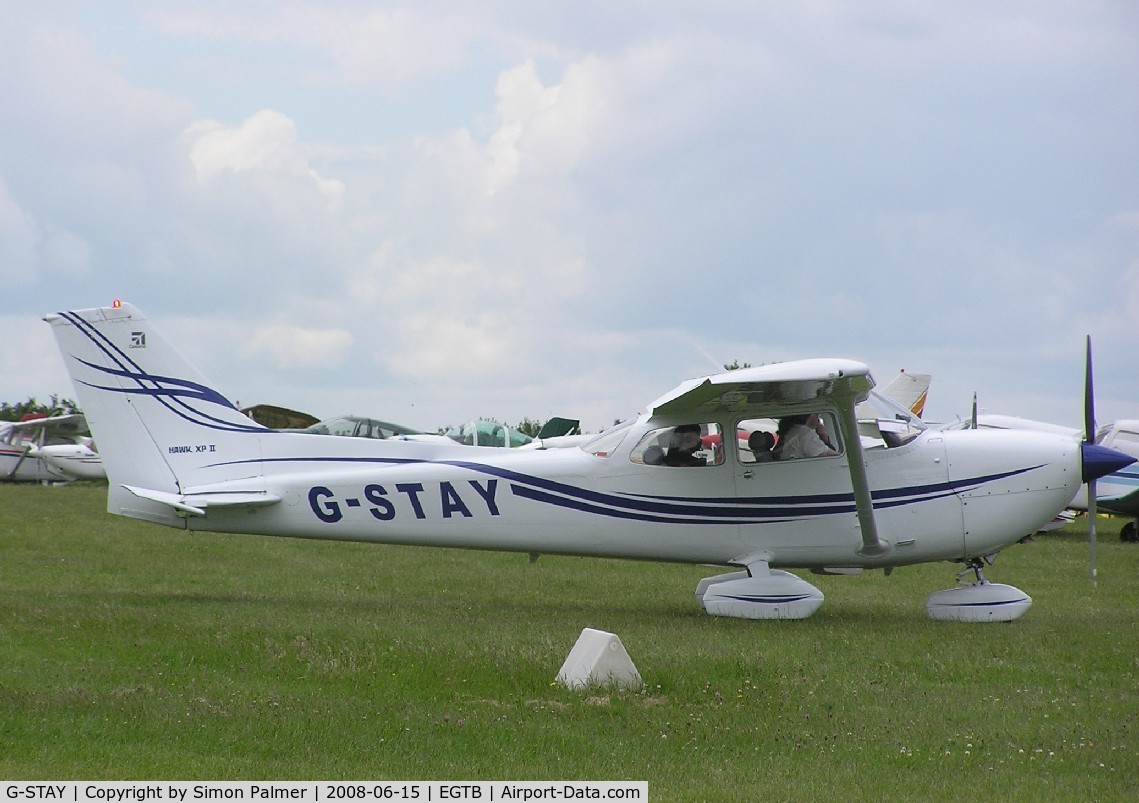 G-STAY, 1977 Reims FR172K Hawk XP C/N 0620, Cessna departing from Booker