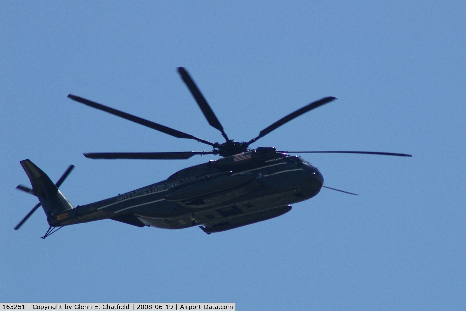 165251, Sikorsky CH-53E Super Stallion C/N 65-645, Flying over North Liberty, IA as part of Presidential fleet.
