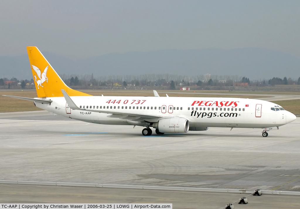 TC-AAP, 2002 Boeing 737-86N C/N 32736, Pegasus
