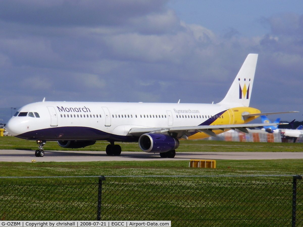 G-OZBM, 1999 Airbus A321-231 C/N 1045, Monarch Airlines