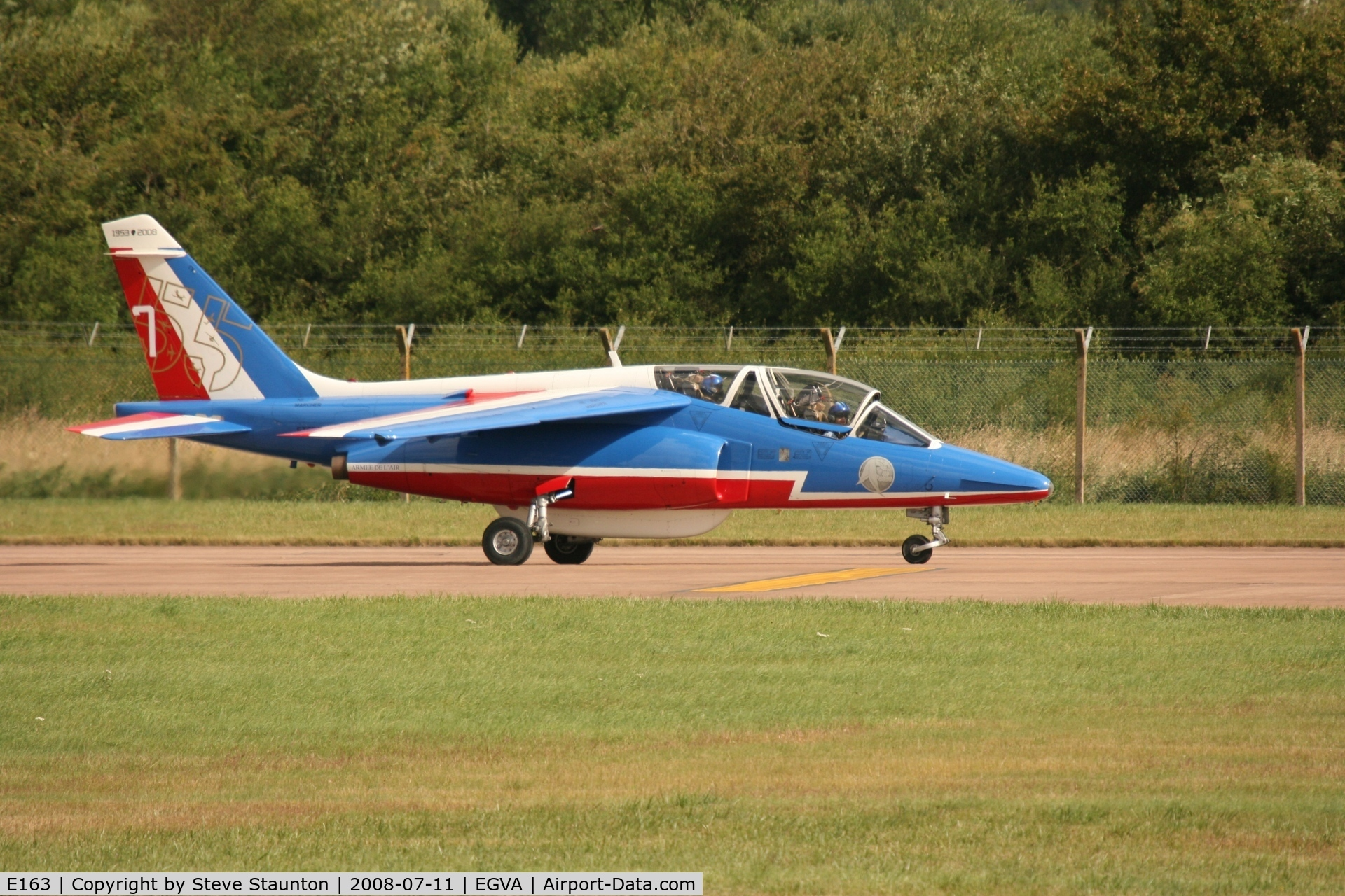 E163, Dassault-Dornier Alpha Jet E C/N E163, Taken at the Royal International Air Tattoo 2008 during arrivals and departures (show days cancelled due to bad weather)