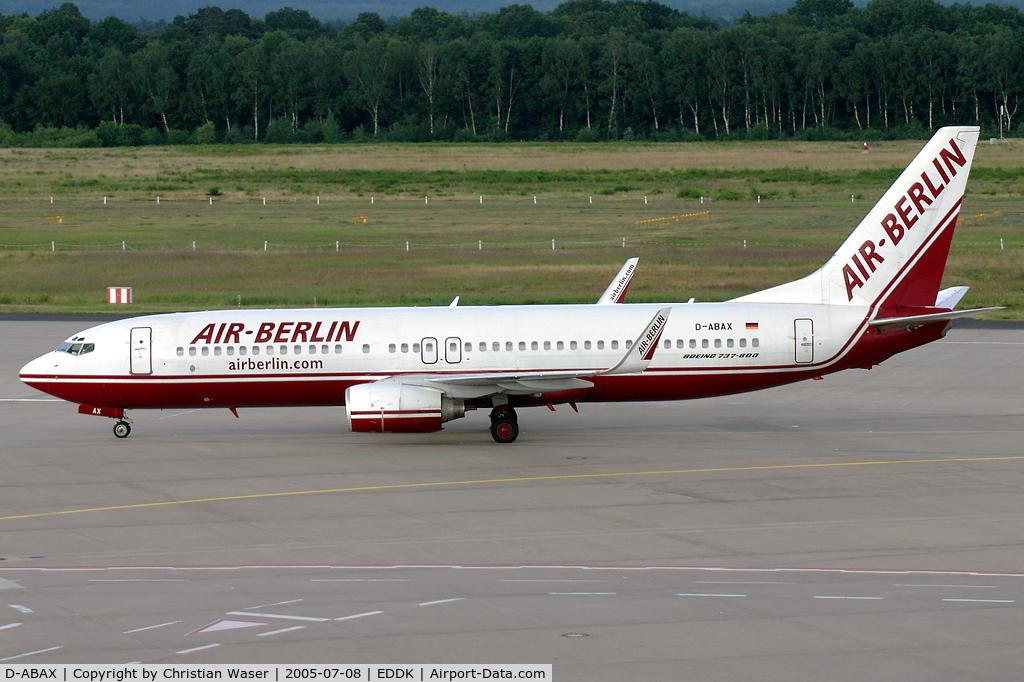 D-ABAX, 2000 Boeing 737-86J C/N 30063, Air Berlin