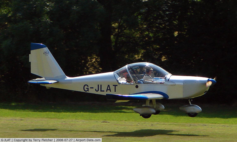 G-JLAT, 2003 Aerotechnik EV-97 Eurostar C/N PFA 315-14068, EV-97 Eurostar - a visitor to Baxterley Wings and Wheels 2008 , a grass strip in rural Warwickshire in the UK
