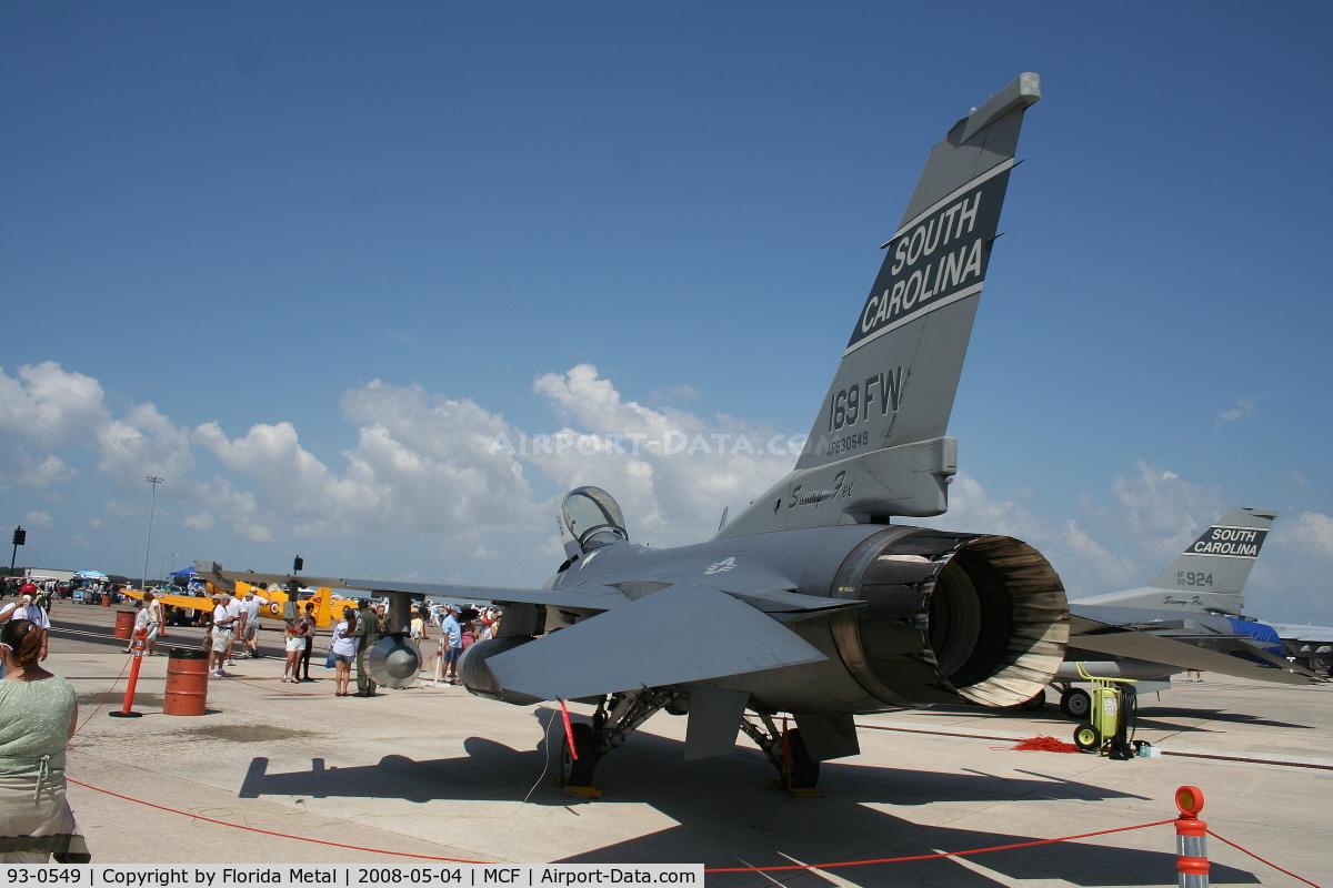93-0549, 1993 Lockheed F-16C Fighting Falcon C/N CC-184, F-16 Falcon