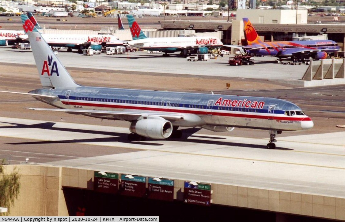 N644AA, 1991 Boeing 757-223 C/N 24602, This one crashed in the pentagon on 11 September 2001.