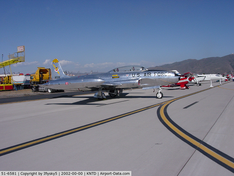 51-6581, 1951 Lockheed T-33A Shooting Star C/N 580-5913, T-33 Shooting Star