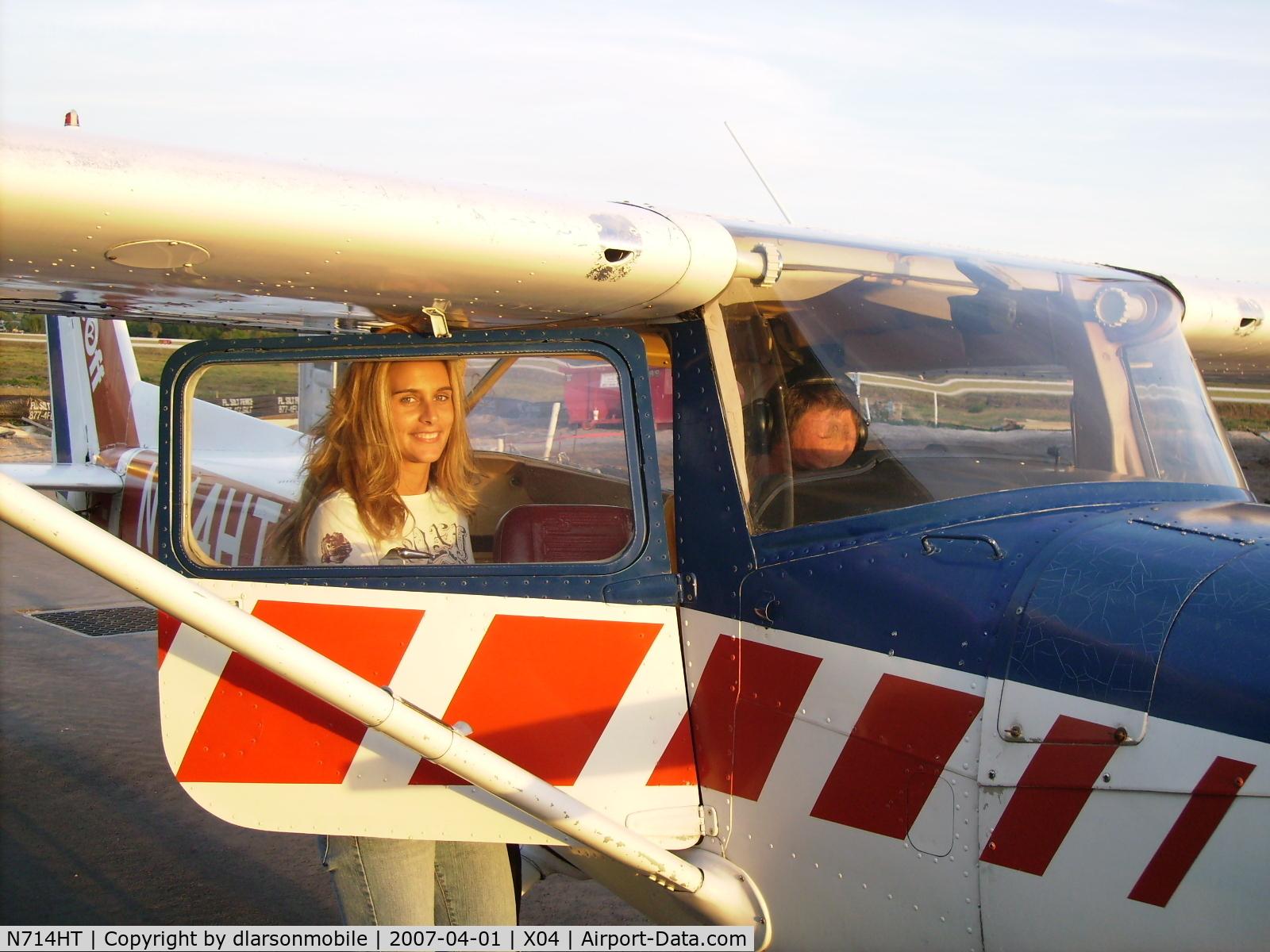 N714HT, 1977 Cessna 150M C/N 15079195, Shana flying HT
