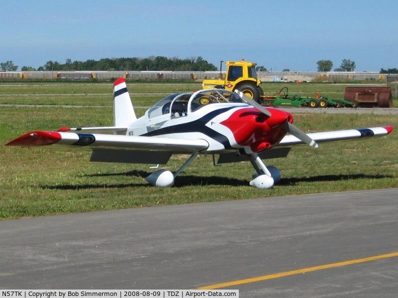 N57TK, 2005 Vans RV-6A C/N 24704, EAA breakfast fly-in at Toledo, OH.