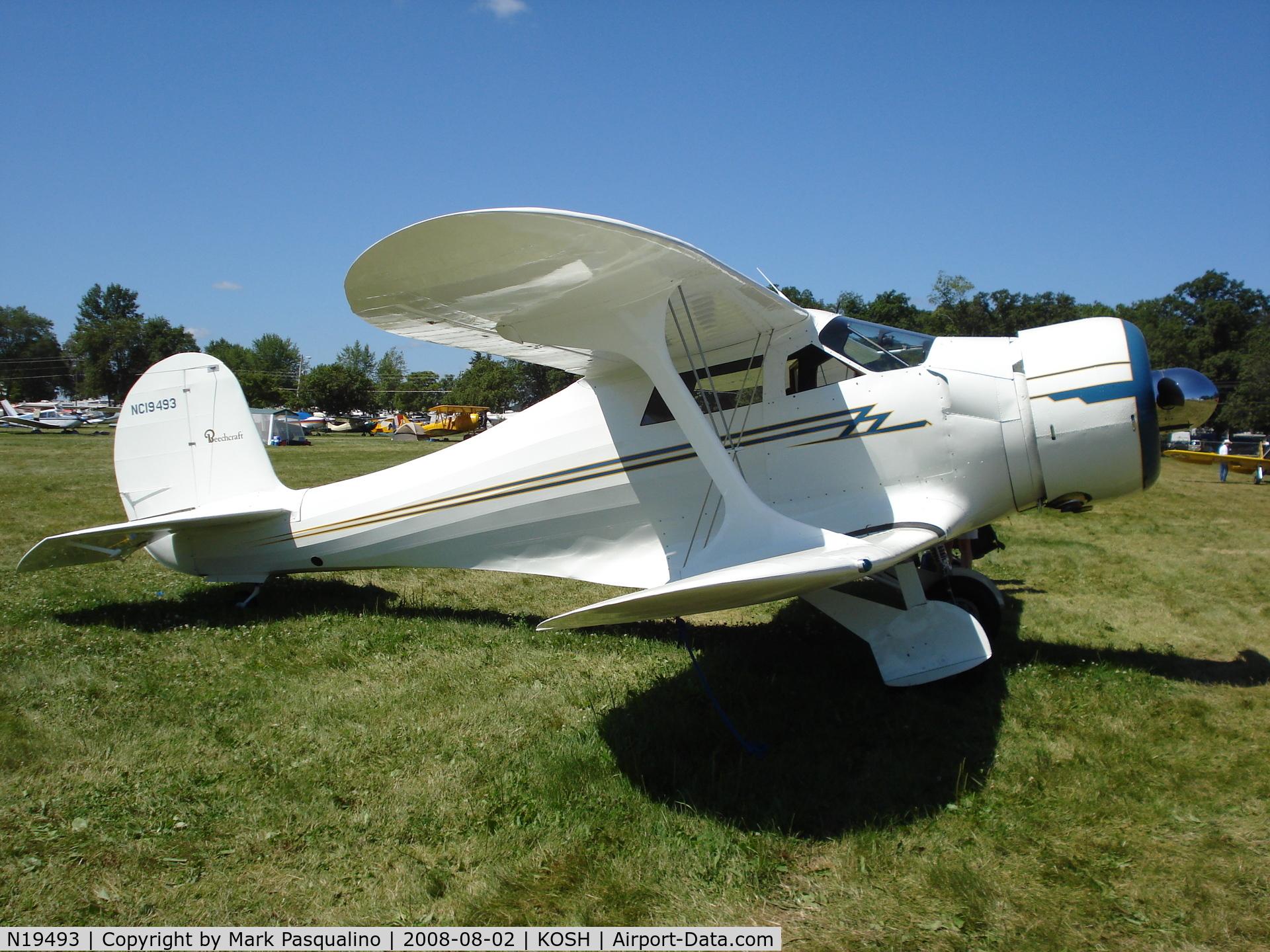 N19493, 1939 Beech D17S Staggerwing C/N 263, Beech D17S