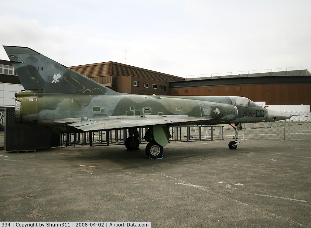 334, Dassault Mirage IIIR C/N 334, S/n 334 - Preserved outside Le Bourget Museum - Ex. French Air Force