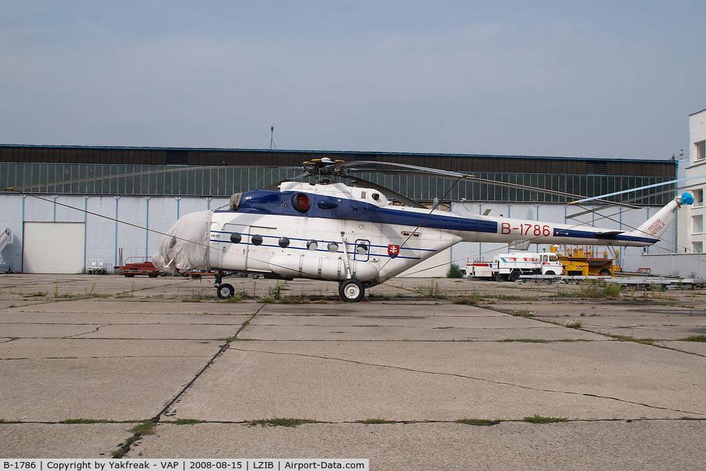 B-1786, Mil Mi-171 C/N 59489617286, Slovak Police Mil Mi8