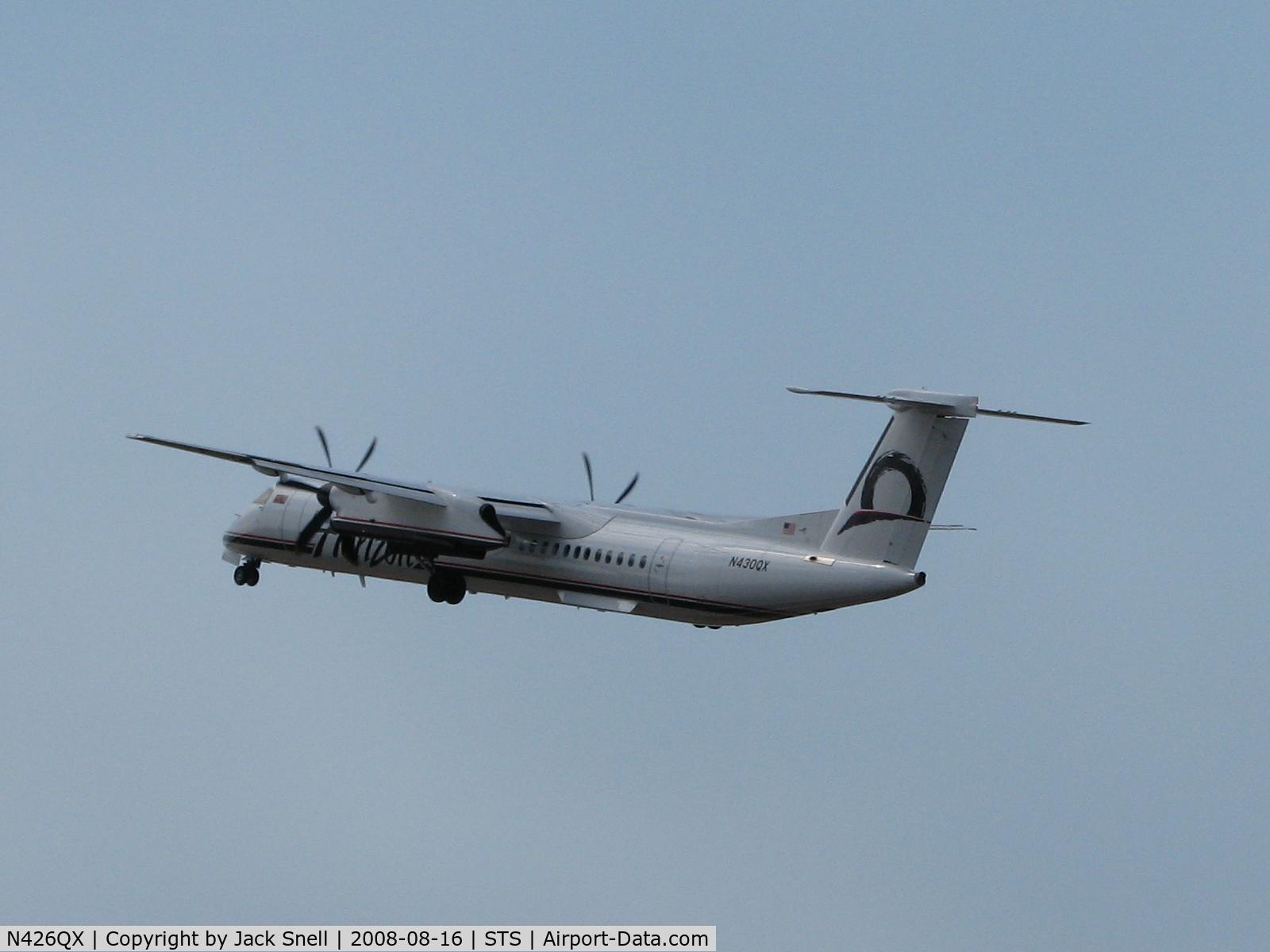 N426QX, 2007 Bombardier DHC-8-402 Dash 8 C/N 4154, Horizon Air Departing
