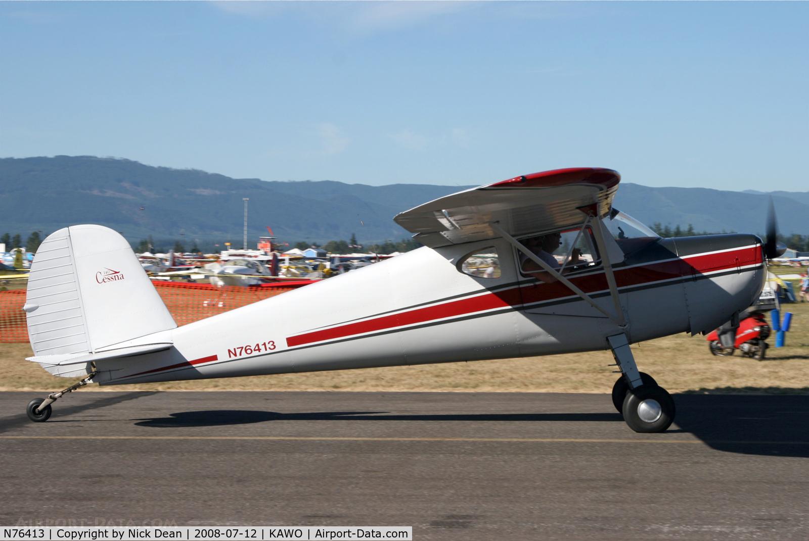 N76413, 1946 Cessna 140 C/N 10839, Arlington fly in