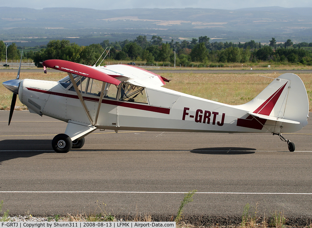F-GRTJ, Christen A-1 Husky C/N 1158, Parked at the Airclub...