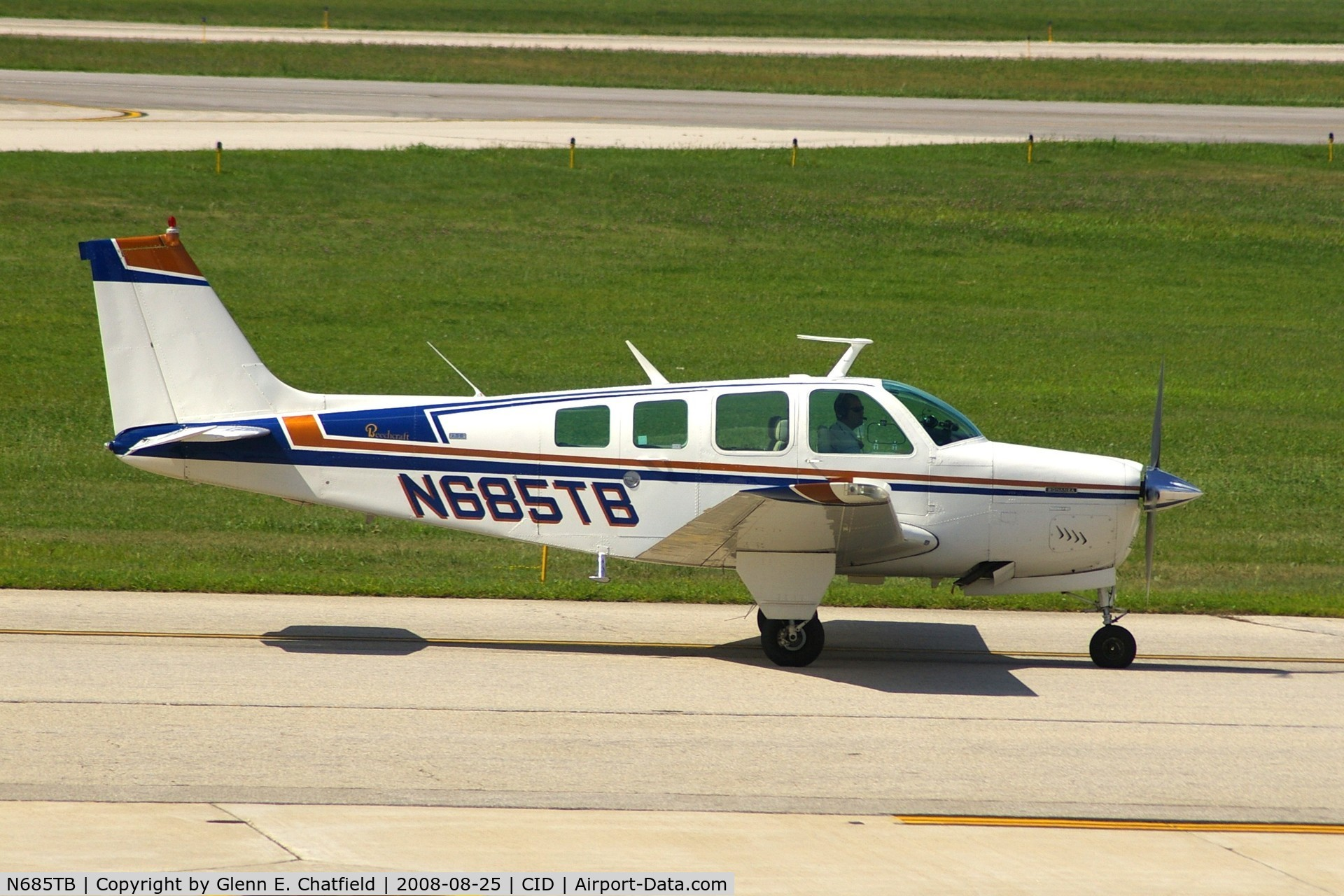 N685TB, 1973 Beech A36 Bonanza 36 C/N E-469, Taxiing past my window on the way to Runway 13