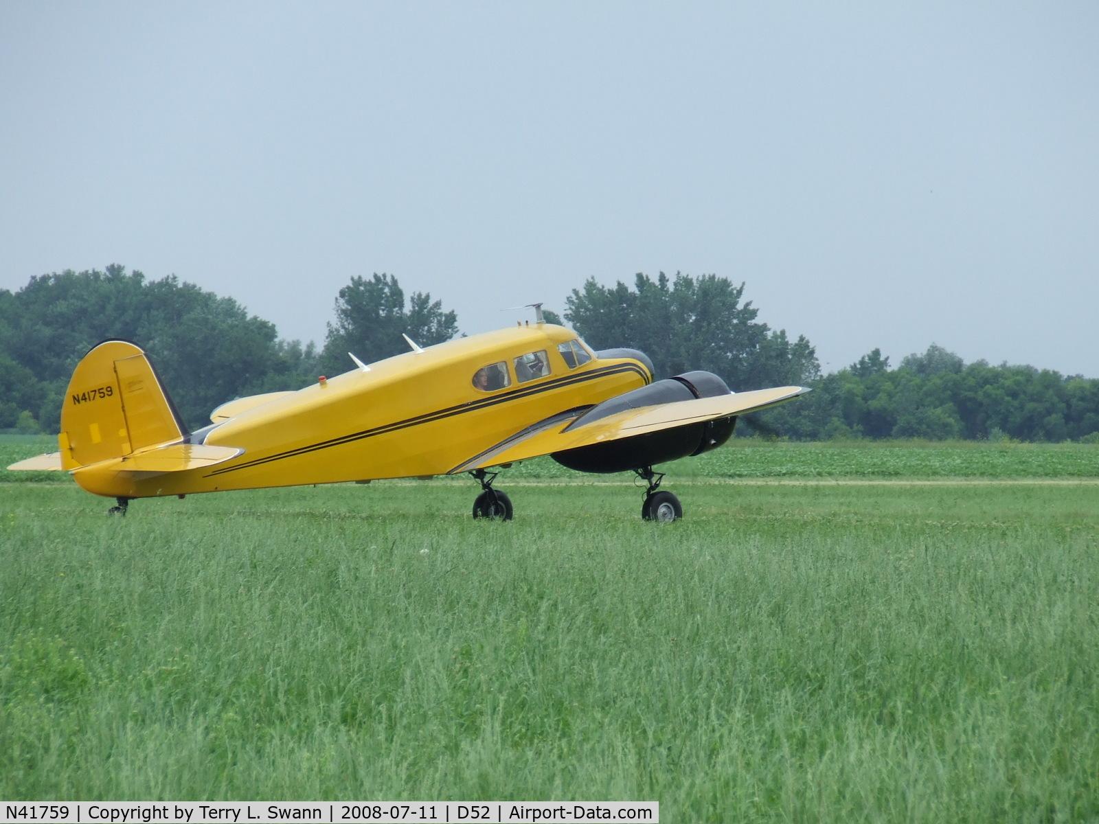 N41759, 1944 Cessna UC-78 (T-50) Bobcat C/N 5807, Bobcat at Geneseo