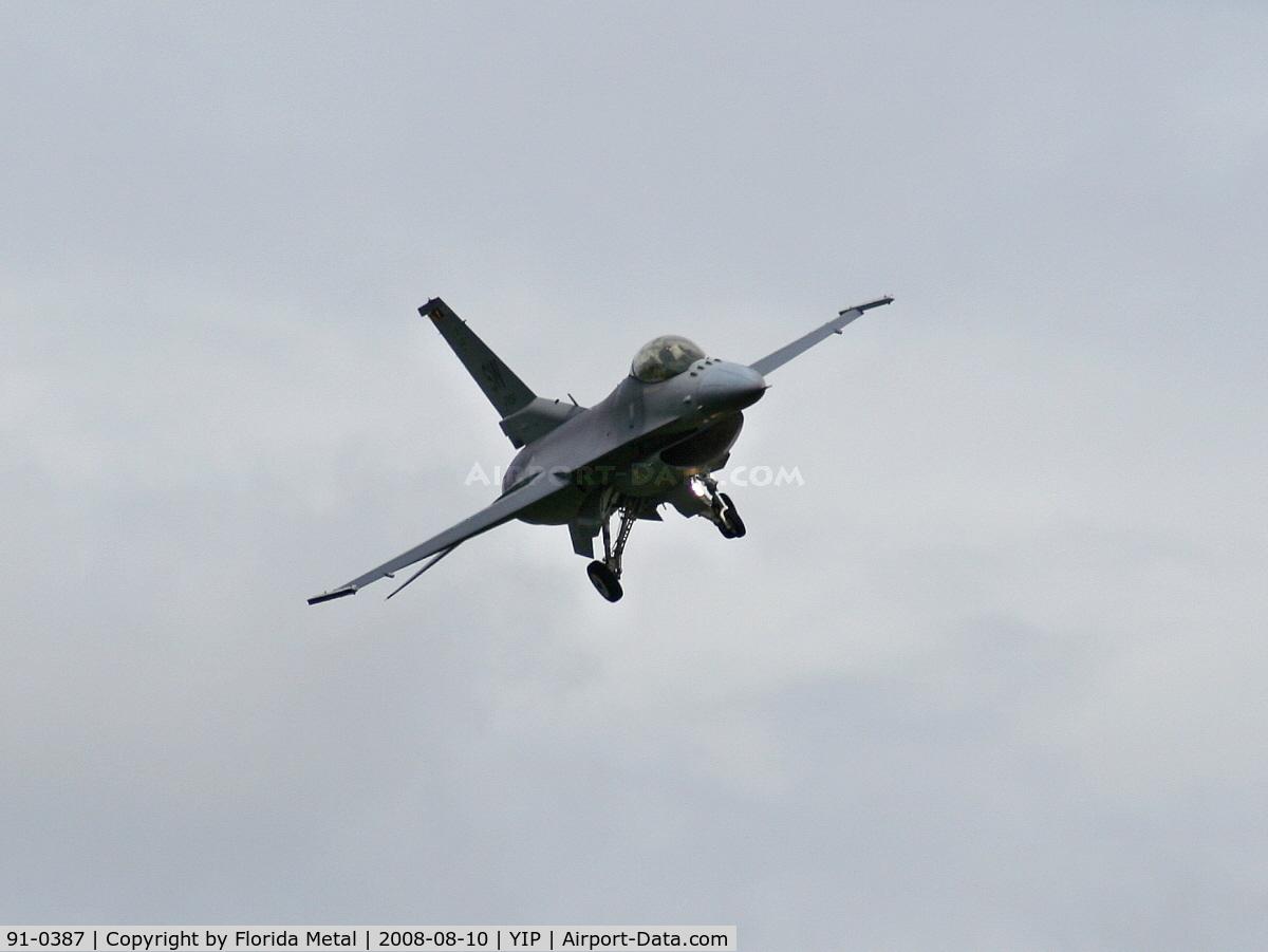 91-0387, 1991 General Dynamics F-16CM Fighting Falcon C/N CC-85, F-16C Falcon