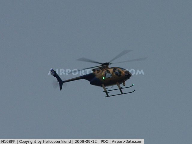 N108PP, 2008 MD Helicopters 369E C/N 0578E, Pomona Police's new MD 500E helicopter on Patrol