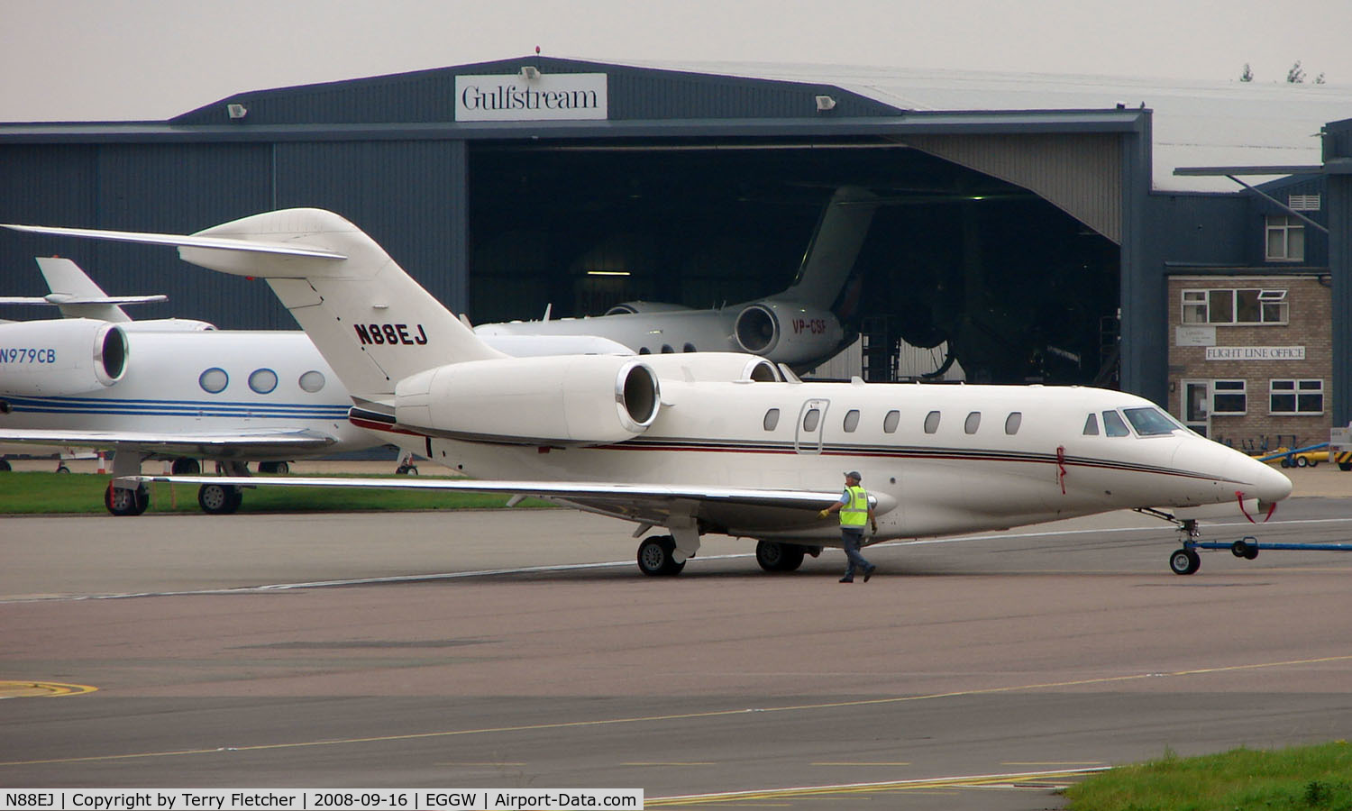 N88EJ, 1999 Cessna 750 C/N 750-0088, American Cessna 750  - Visitor to Luton In September 2008