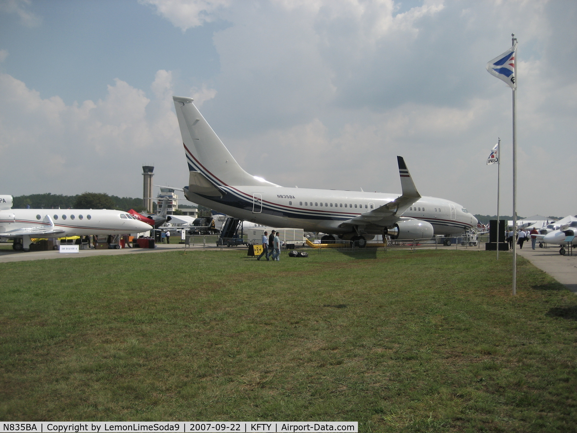 N835BA, 2001 Boeing 737-7BC C/N 30572, Just another day at the airport.