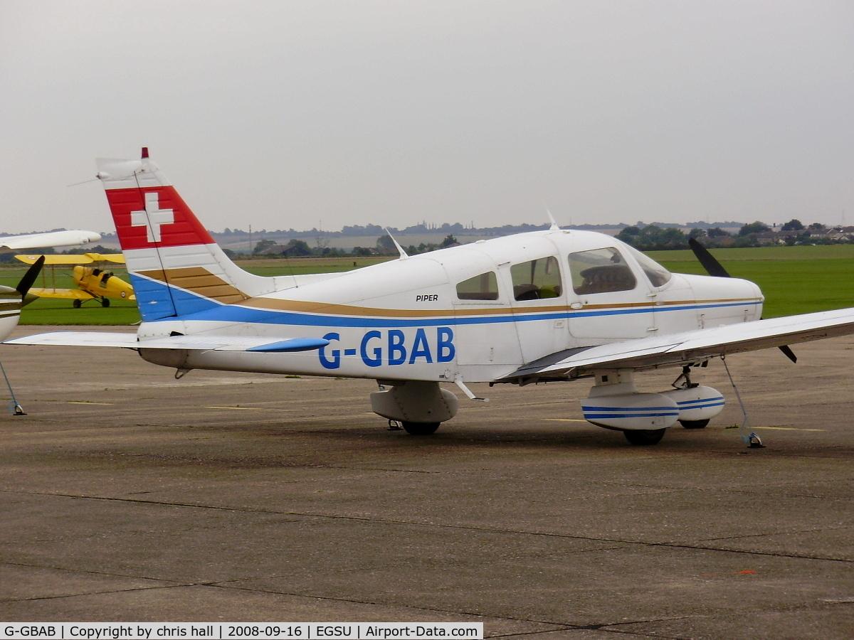 G-GBAB, 1978 Piper PA-28-161 Warrior II C/N 28-7816495, Previous ID: HB-PAB