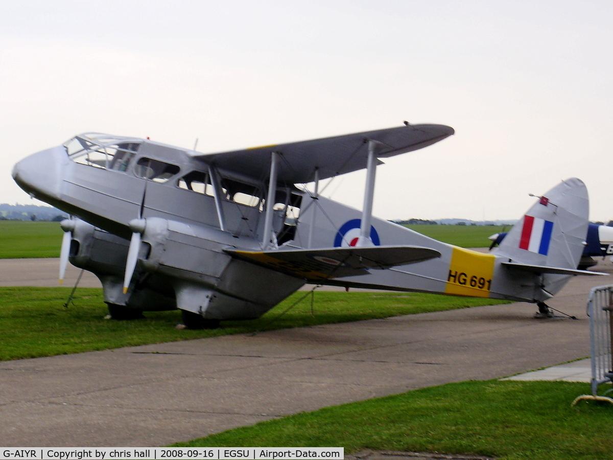 G-AIYR, 1943 De Havilland DH-89A Dominie/Dragon Rapide C/N 6676, SPECTRUM LEISURE LTD. wearing the reg no. HG691