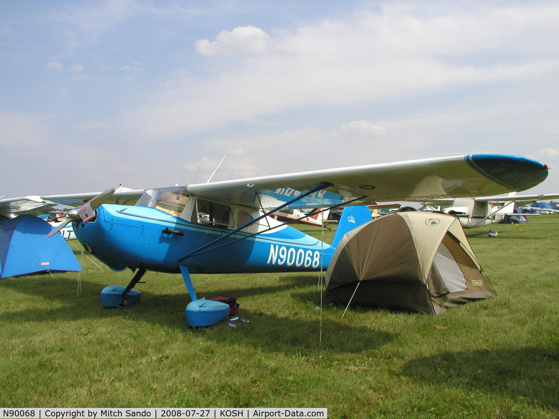 N90068, 1946 Cessna 140 C/N 9129, EAA AirVenture 2008.