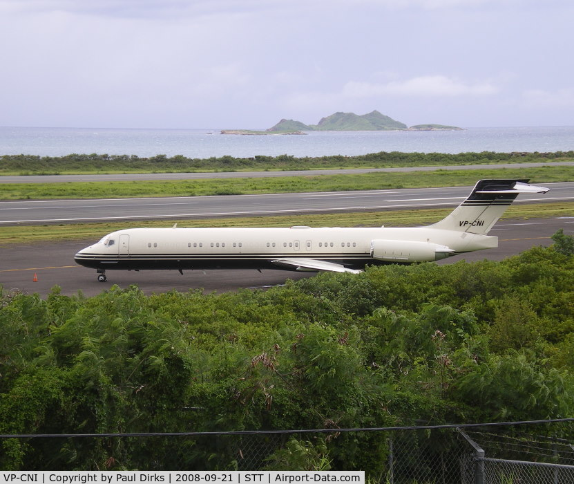 VP-CNI, 1989 McDonnell Douglas MD-87 C/N 49767, At Cyril E King airport - St Thomas